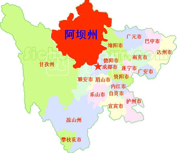 地图汇集 / 阿坝州在四川的位置.gif